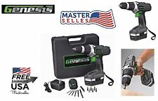 Cordless Electric Rechargeable Drill Driver 18v Kit Portable Power Hand Tool Set