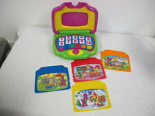 BARNEY TOY COMPUTER LAPTOP WORKS LEARNING FUN 2002 MATTEL
