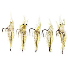 New 5 Pcs Lures Bait Shrimp Fishing Simulation Prawn Saltwater Hooks Fish Nice C
