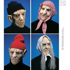 Old Man / Woman Mask with Headpiece for Elderly Granny OAP Fancy Dress Accessory