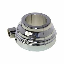 1'' BILLET CHROME THROTTLE HOUSING SINGLE CABLE SMOOTH OD