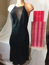 Victoria's Secret Silk Black Lingerie Nightgown Medium