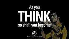 """Inspirationa Quotes from Bruce Lee martial arts Mini Poster 13""""x19"""""""