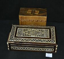 ThriftCHI ~ Inlaid Wood Playing Card Box & Jewelry Box