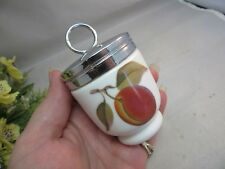 Royal Worcester porcelain egg coddler.Apricot or peach design