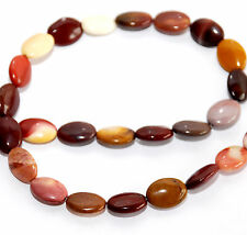 STRAND NATURAL MOOKAITE JASPER OVAL BEADS, 14 X 10 MM, GEMSTONE MOUKAITE