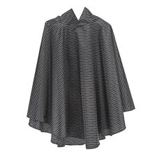 totes Fabric Poncho With Separate Pocket B&W Wavy Dots