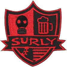 "Surly ""Stripes"" Shield Sew-on Embroidered Bicycle Patch"