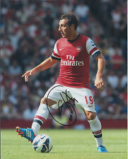 Santi CAZORLA Signed Autograph 10x8 Photo AFTAL COA ARSENAL Premier League RARE
