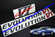 Evolution VI Door and Boot Decal Sticker Evo 6 Mitsubishi Ralliart Lancer RS