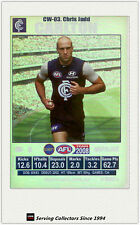 2008 AFL Teamcoach Trading Card J Squad Silver Captain CW3 Chris Judd