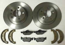 BMW E90 320D 05-12 Rear 2 Brake Discs, Rear 2 Brake Pads & Brake Shoes