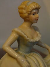 Lady in blue dress china figurine