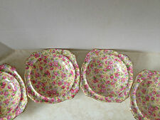 Vintage Royal Winton Grimwades Chintz English Rose Bowls x 4