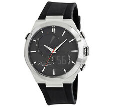 KENNETH COLE NY ANALOG & DIGITAL VIBRA ALARM BLACK DIAL MEN'S WATCH KC1762 NEW