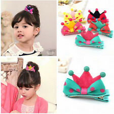 5Pcs Kids Girls Crown Style Hairpin Hair Clips Princess Barrette Random Color