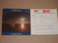 "CHRIS REA -On The Beach- 7"" mit Product Facts Promo-Flyer"