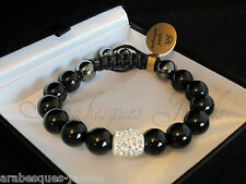 GENUINE ARABESQUES JEWELS GEMSTONE/HEALING CRYSTAL/BLACK ONYX BRACELET/BANGLE