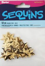 Darice Economy Craft ~ STAR SEQUINS ~ Size: 15mm GOLD Qty in Pack: 50