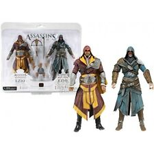 "Assassini CREED REVELATIONS 7 ""Action Figure 2 Pack EZIO conti FIGURE NUOVO"