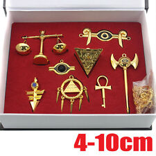 Yu-Gi-Oh! Millennium Items Puzzle necklace keychain pendant 8pcs set New in Box