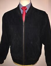 BARNEYS ORIGINALS LUXURY DESIGNER 100% LEATHER BOMBER JACKET SIZE: small
