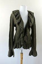 NEW Tags Womens Ralph Lauren Poet Cardigan Sweater Wool Cashmere Green XL 16