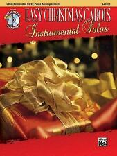 Easy Christmas Carols Instrumental Solos for Strings: Cello (Book & CD) (Alfred'