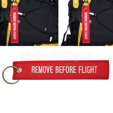 Nice Remove Before Flight Embroidered Canvas Specil Luggage Tag Label Key Chain