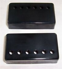 MATCHED PAIR OF GUITAR METAL HUMBUCKER PICKUP COVERS/BK