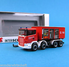 Herpa h0 274661 SCANIA R abroll-container somo interschutz 2005 ho 1:87 BOX