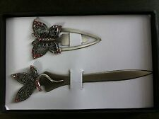 NEW 2pc SET BOOK MARKER and LETTER OPENER SET