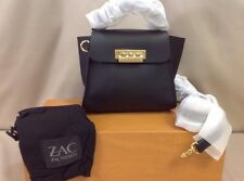 Zac Posen Eartha Iconic Top Handle Mini Crossbody Bag Black Leather ZP1504-001