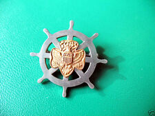FIRST Mariner Girl Scout Membership Pin 1930s RARE Excellent Cond. Combine Ship