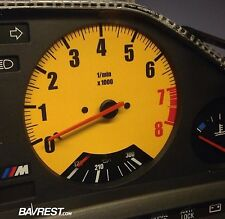 BMW E30 Custom Cluster Overlay for Tachometer.  Perfect for engine swaps