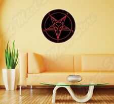 Sigil of Lucifer Satan Devil Demon Evil Wall Sticker Room Interior Decor 22X22""