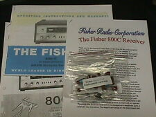 Fisher 800-C / 1800 Vacuum Tube Receiver Restoration Kit Now with COLOR Photos!
