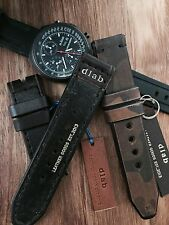 24mm Dark brown Handmade Genuine Leather vintage Watch Band / strap Apple watch