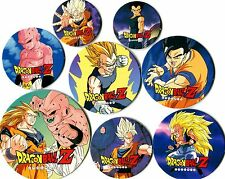 POG - POGS GEANT JUMBO DBZ DRAGON BALL Z (de 9cm à 4cm) Lot de 8 Different