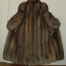 "NEW Neiman Marcus 51"" Long Finest Quality Crystal Fox Fur Coat Size 10-12"