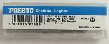 """Presto UK 3/16"""" x 32tpi HSS BSF Set of 3 taps / Direct from RDGTools"""