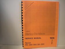 Harley-Davidson Aermacchi 1961 to 1974 Sprint 250 & 350 Service Shop Manual