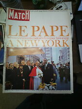 Paris Match n°862 16 oct 1965 le pape à new york passer le mur de berlin