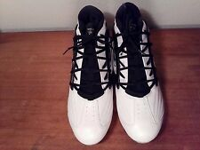 Reebok Mens NFL EQUIPMENT BLACK / WHITE Football Cleats Shoes SIZE 16