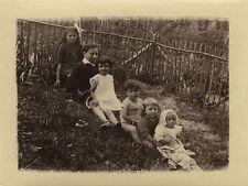 PHOTO ANCIENNE - VINTAGE SNAPSHOT - ENFANT MODE QUEUE LEU LEU DRÔLE - FASHION