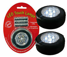 2 x Mobile Touch Lamp with 4 LED's - includes batteries NEW