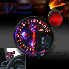 "5"" 4-IN-1 LED 11K RPM Oil Water Pressure Temperature Tachometer Gauge"