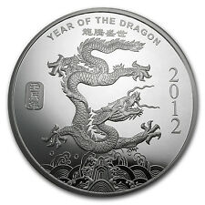 2012 10 oz Lunar Year of the Dragon Silver Round - SKU #65014