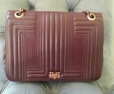 Quilted Flap Bag Medium Real Italian Leather Red Burgundy $227