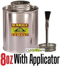 8 oz BARGE ORIGINAL Contact CEMENT GLUE Metal Can with hair brush Applicator